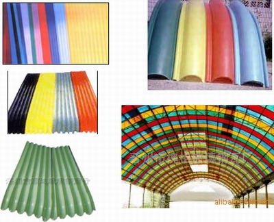 Fiberglass Colored roofing tiles